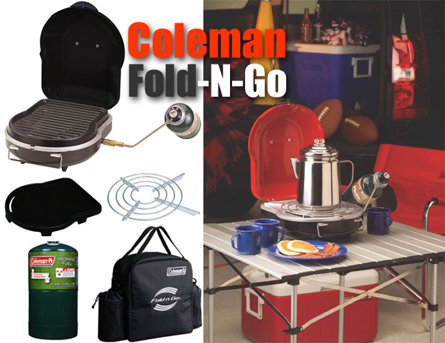 the coleman grill to go i mean the fold n go. Black Bedroom Furniture Sets. Home Design Ideas